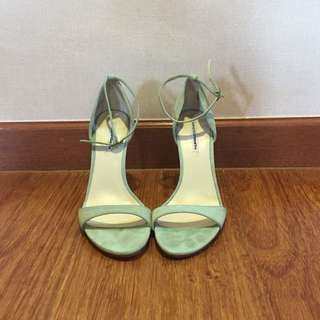 Windsor Smith Mint Green Strappy Heels