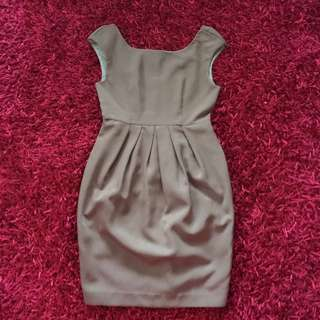 H&M Brown Corporate Work Dress Size 34 / 6