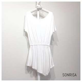 WHITE系列🌿PAZZO大圓領簡約設計長上衣