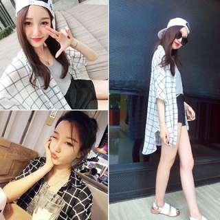 韓系休閒式開衫