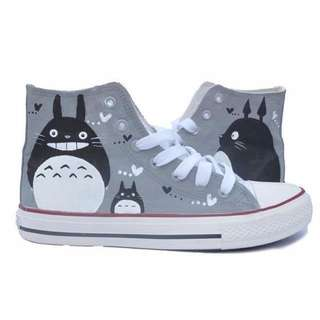 Totoro hand painted shoes