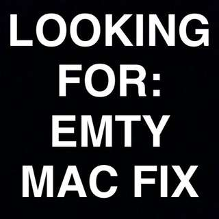 Wanting To Buy/trade Empty Mac Fix + Spray