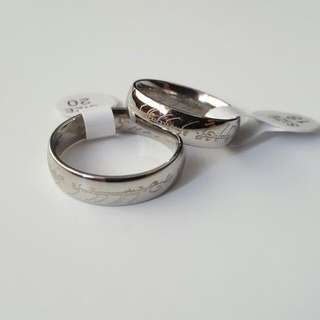 PROMO !  LORD OF THE RING Inspired Scripture Men Ring - Silver