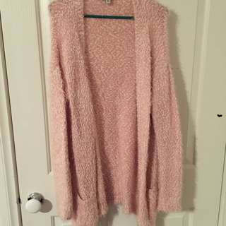 Pink And White Cardigan