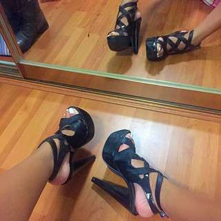 THERAPY Platform Strapped Heels