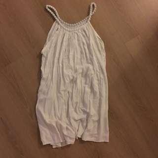 White Summer Dress / Long Top