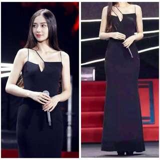 6527#不規則設計款修身長裙