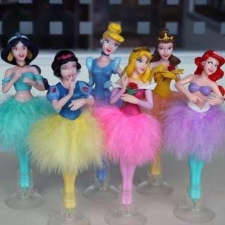 迪士尼Disney princess 迪士尼公主原子筆睡美人阿拉丁公主美人魚白雪公主
