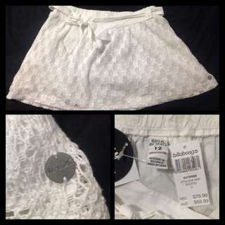 Billabong Crochet Skirt BNWT