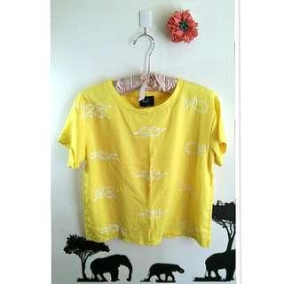 💙繩結黃色上衣💙