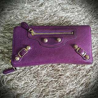 *Best Deal* Pre Loved Authentic Balenciaga Wallet In Purple (Winter Edition) *Comes With Free Leather Cream*