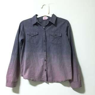 Ombre Button Shirt