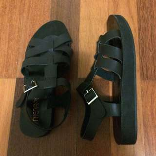 Black Strapping Sandals