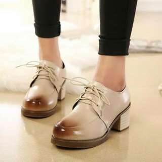 White Brogue Platforms