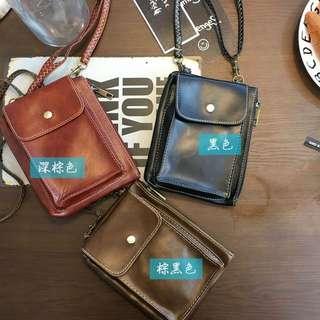 TWINKLE#(買三送一)復古韓系可調節手機零錢包(預購)