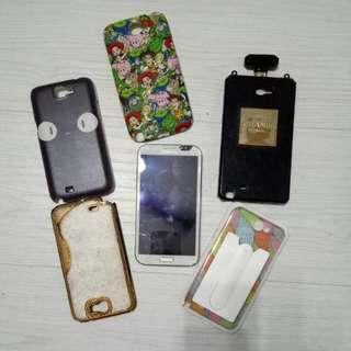 Note2手機+手機殼*5(含運)