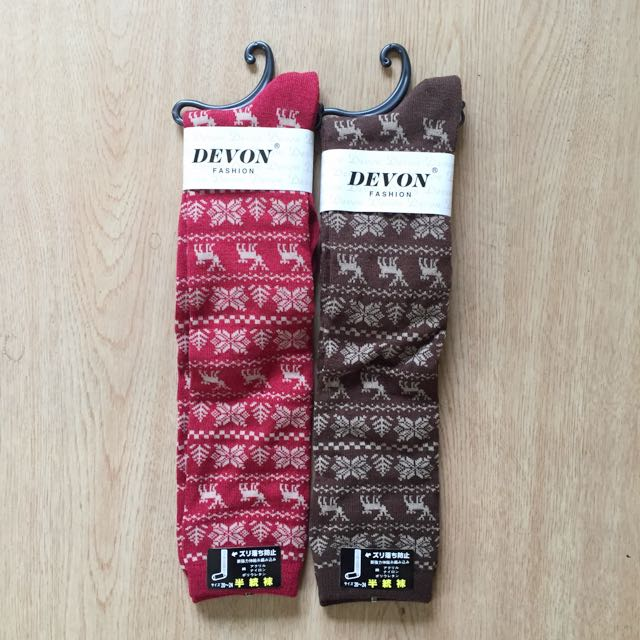 全新麋鹿襪