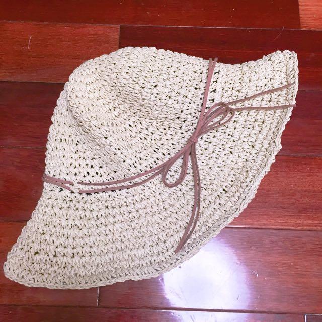 可折疊編織草帽