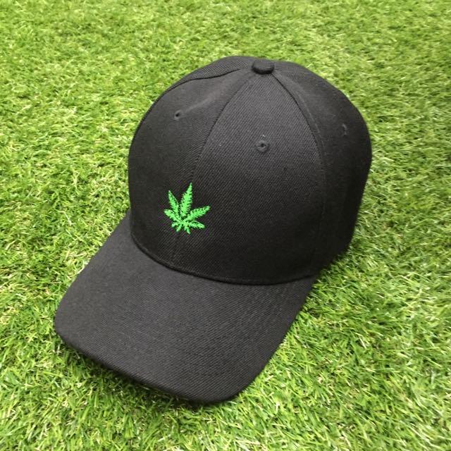 古著 文青 刺繡大麻帽 有夠好看 超百搭 棒球帽