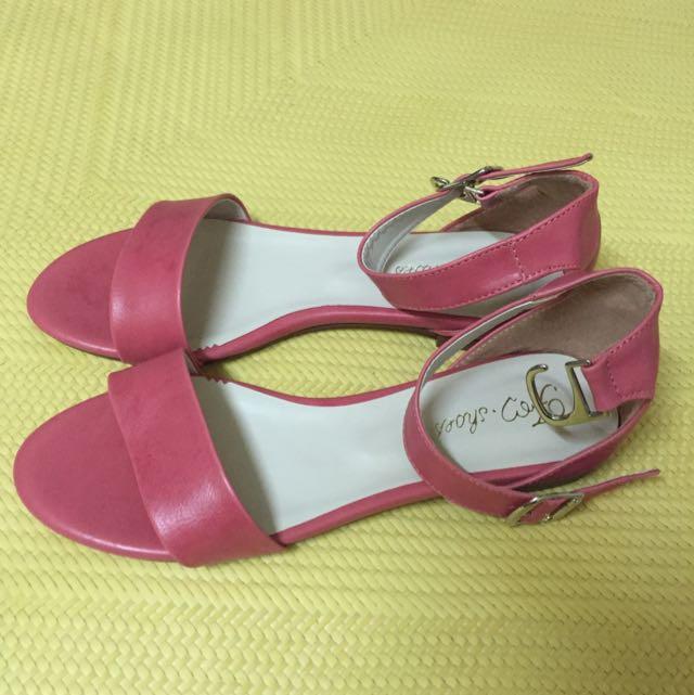 轉賣 Fm 時尚美鞋 涼鞋 紅