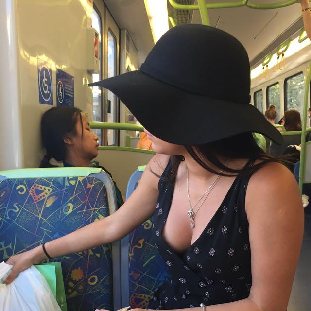 All Black Summer Hat