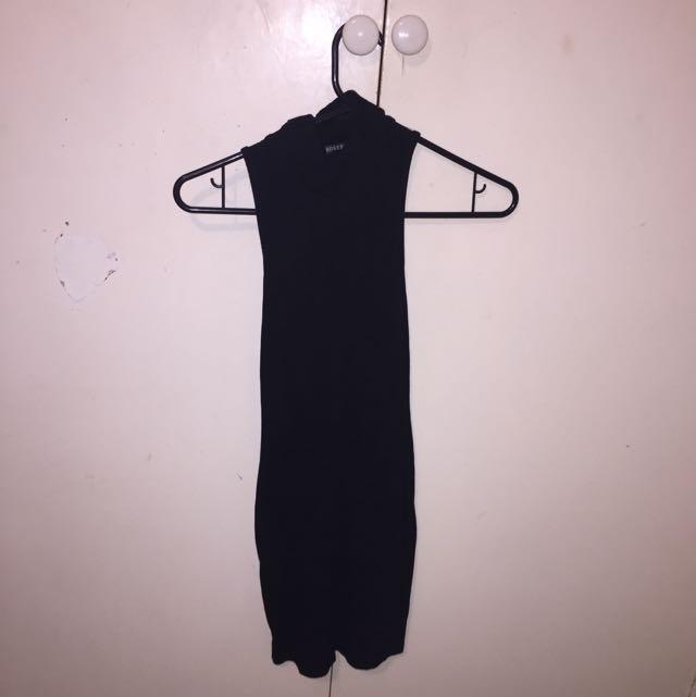 All Black Turtle Neck Dress