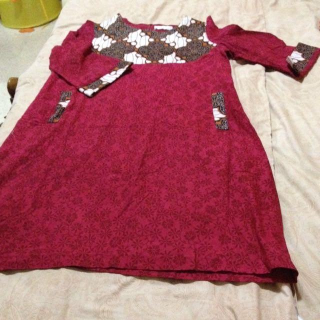Batik Dress Selutut