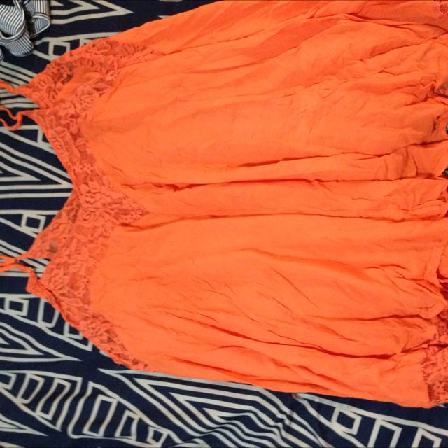 Beachy Orange Flowy Dress