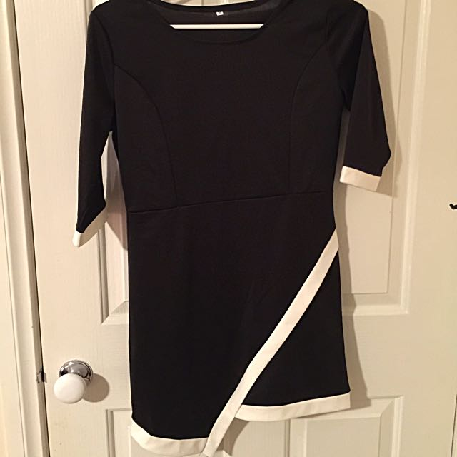 Black Dress With White Edges