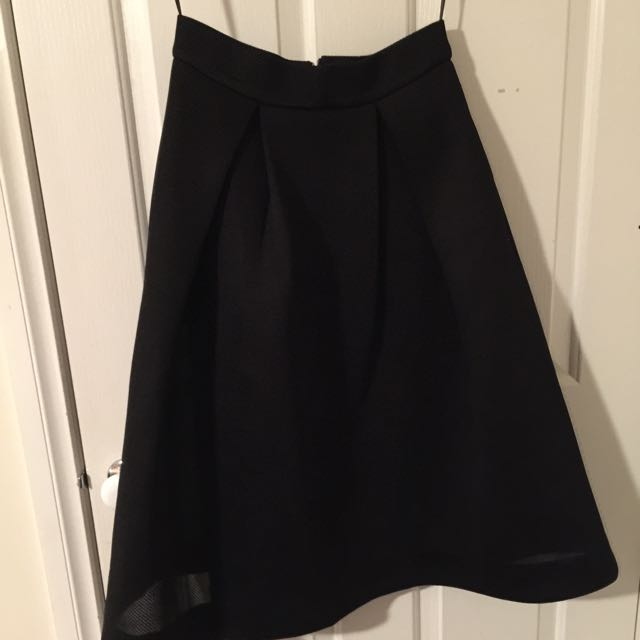 Black Length Skirt