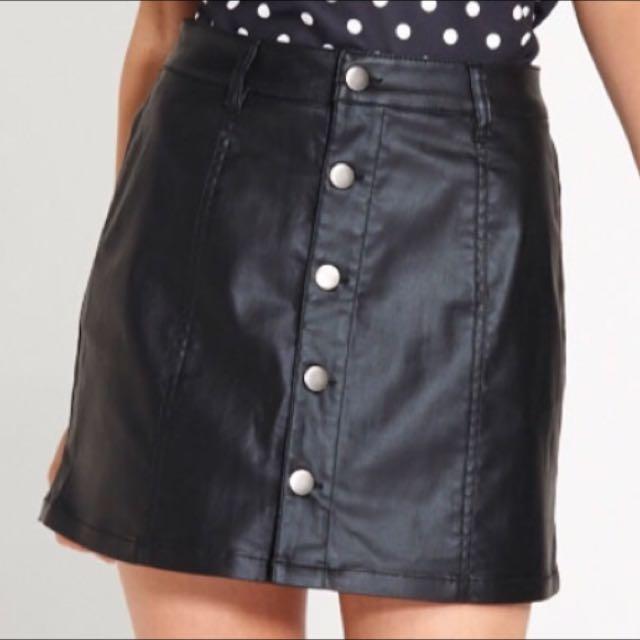 BN Dotti Leather Look Skirt
