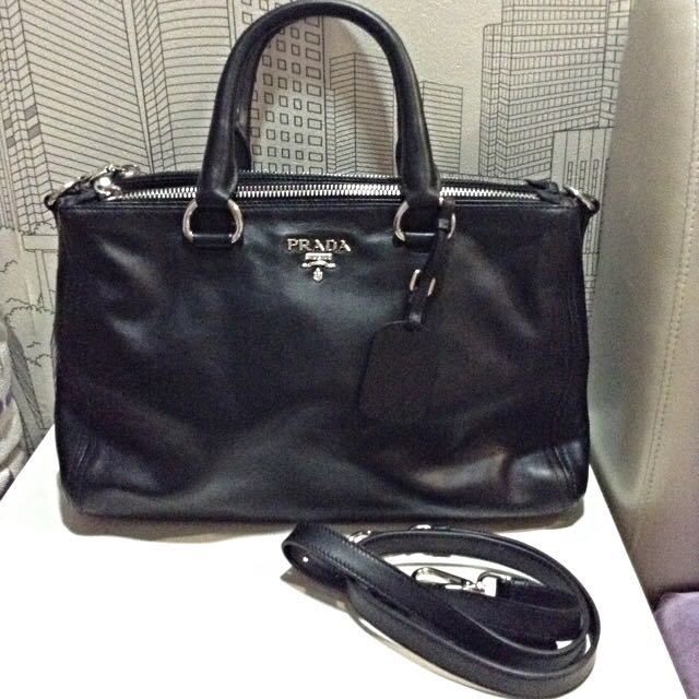 08ceac1fe61b55 BN Prada Soft Calf Shopping Tote In Nero, Luxury, Bags & Wallets on ...