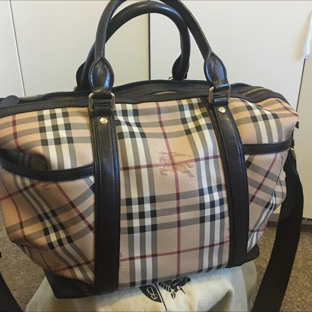 BURBERRY Haymarket Check Baby Change Tote