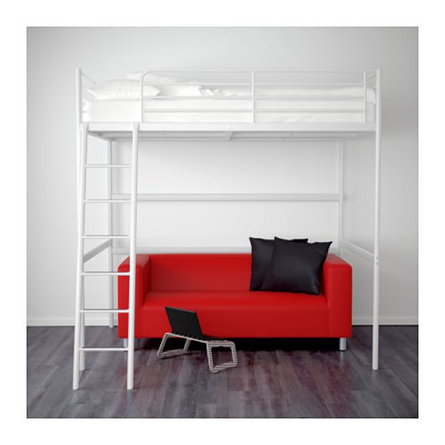PENDING* IKEA Tromso Loft Bed Frame In White, Furniture on Carousell