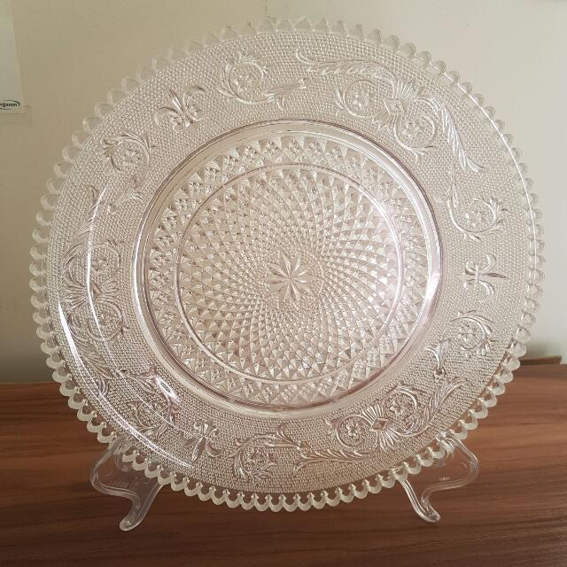 Crystal Cut Glass Plate