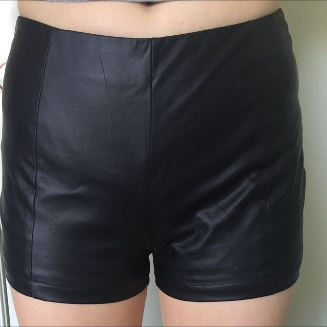 Dissh Boutique High Waisted Leather Shorts