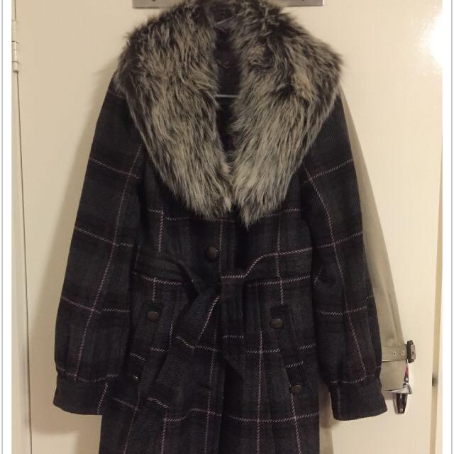 Forever New Woollen Winter Coat Size 8