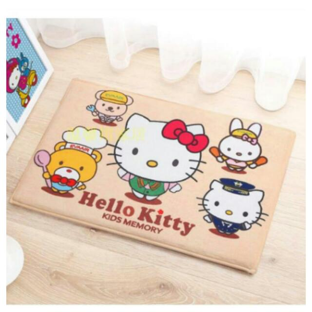 Hello Kitty 記憶棉回彈地墊 腳踏墊 門墊 浴室防水防滑墊