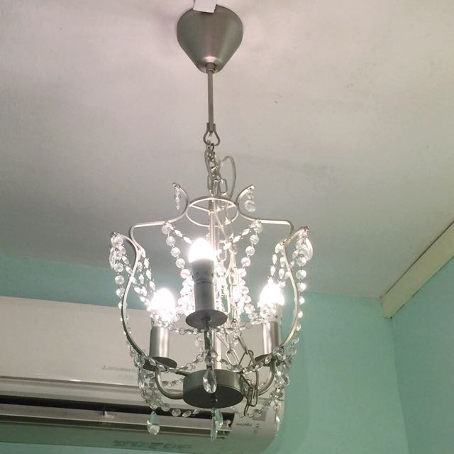 Ikea Kristaller Chandelier Furniture Home Decor On Carousell