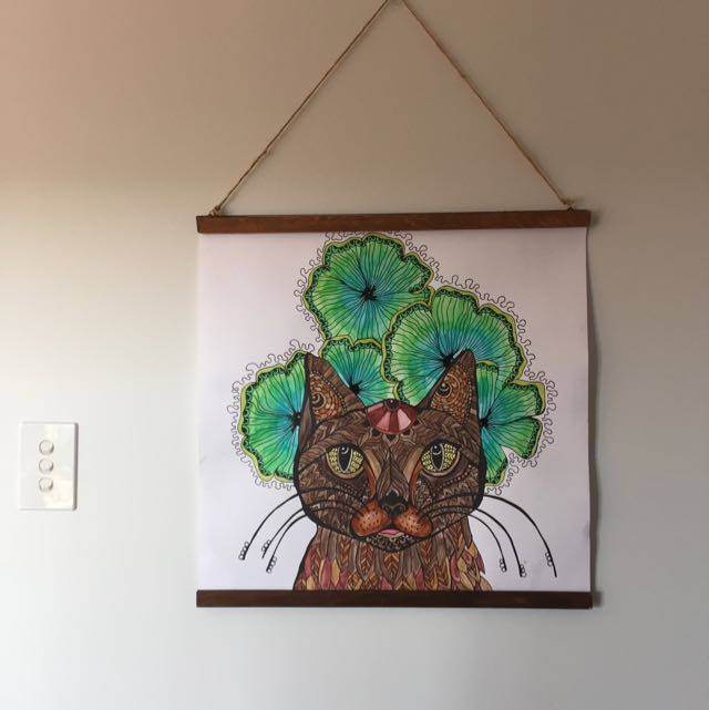 Large Art Poster With Hanger