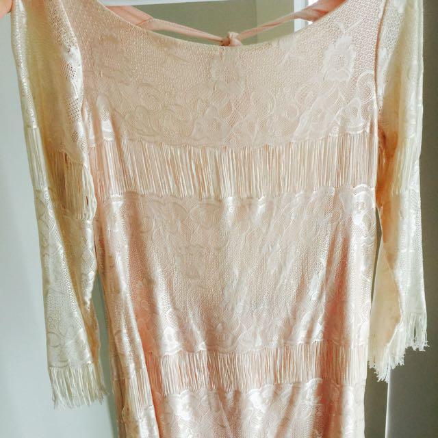 Light Pink Lace Detail Dress