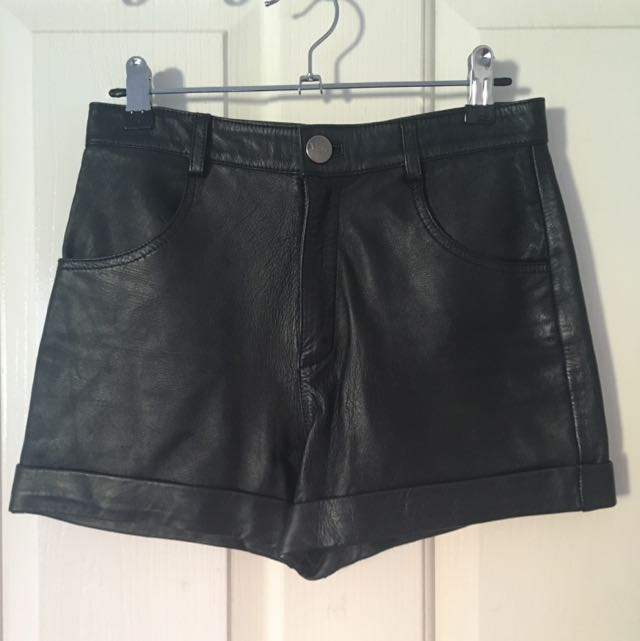 May The Label Leather Shorts