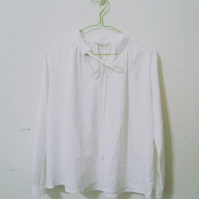 (含運)Meier Q. 輕薄白色襯衫