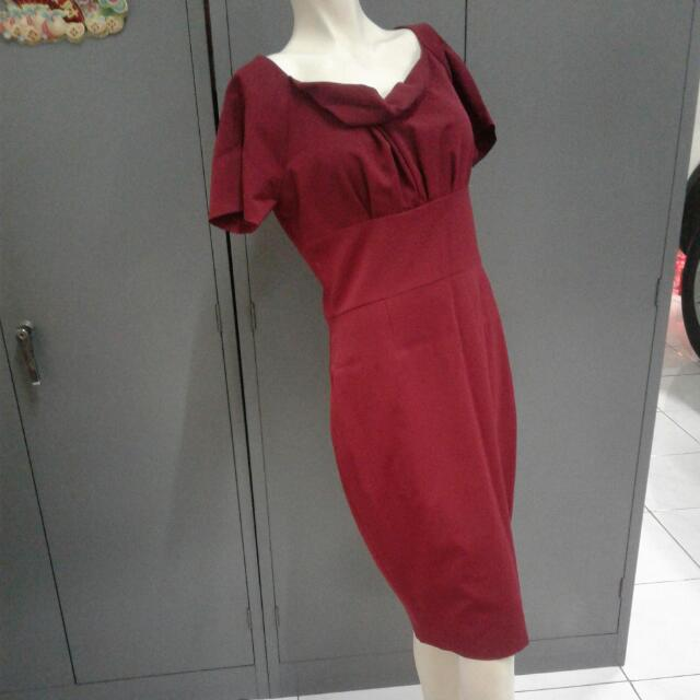 Red Korea Made Dress Merek VODOO.No Exchange &refund.Nego Price!