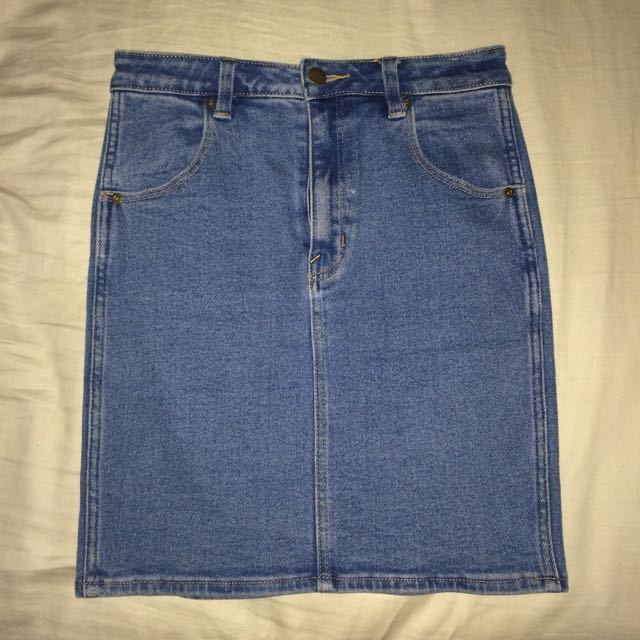Rolla's High Waisted Denim Skirt