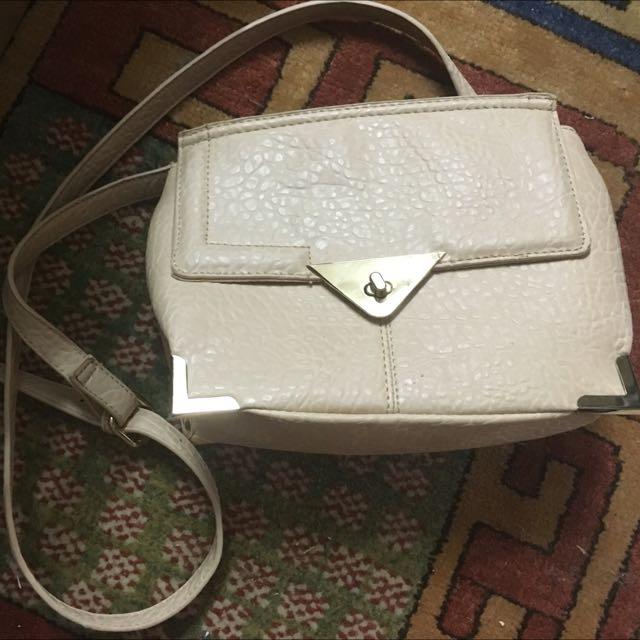 Rubi Handbag Peach Fake Leather