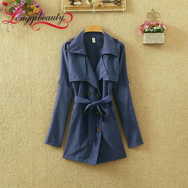 Sale Blue Trench Coat