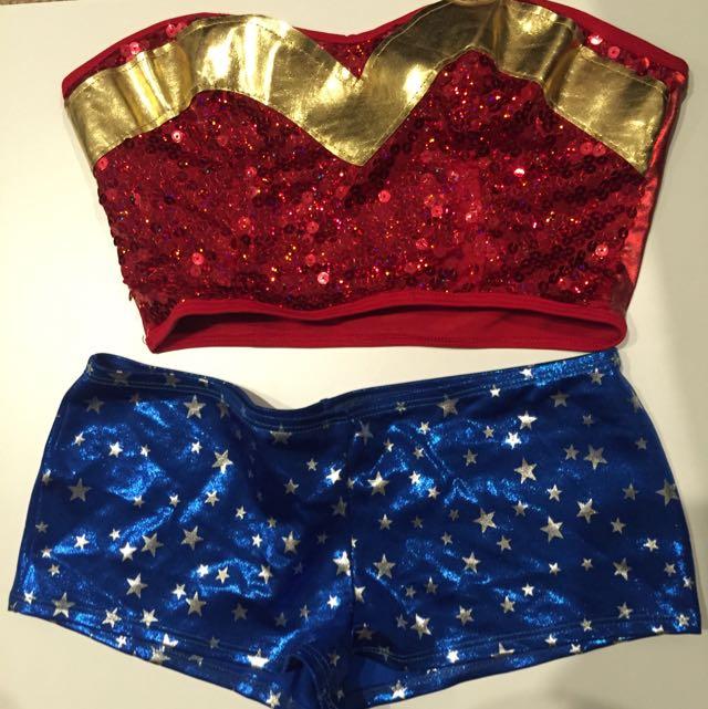 Sexy American Wonder Women Costume