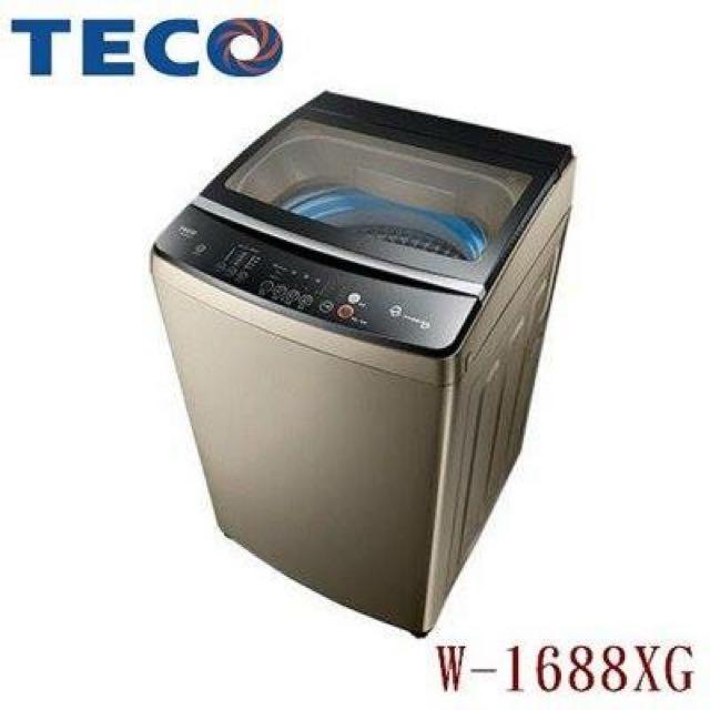TECO 東元 16KG 變頻洗衣機 W1688XG
