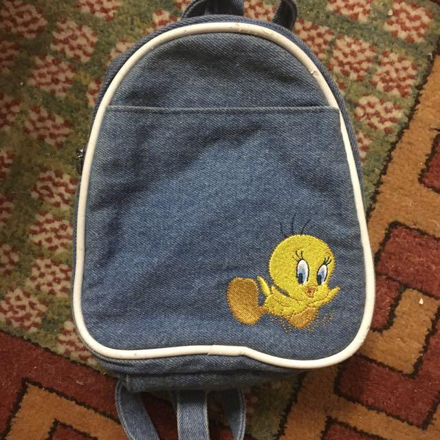 Tiny Denim Backpack Tweedy Bird